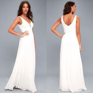 Lulus Leading Role White Maxi Dress Size XS
